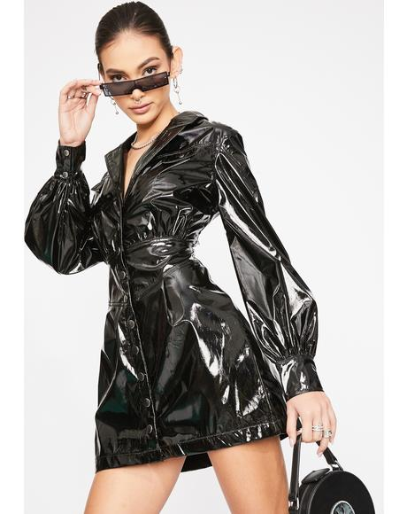 Always Bossin' Up Vinyl Dress