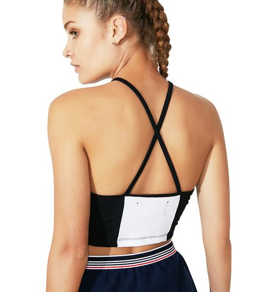 Fila Pipa Crop Halter Top