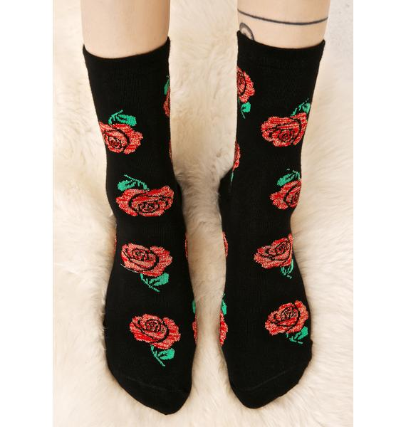 Local Heroes Roses Ankle Socks
