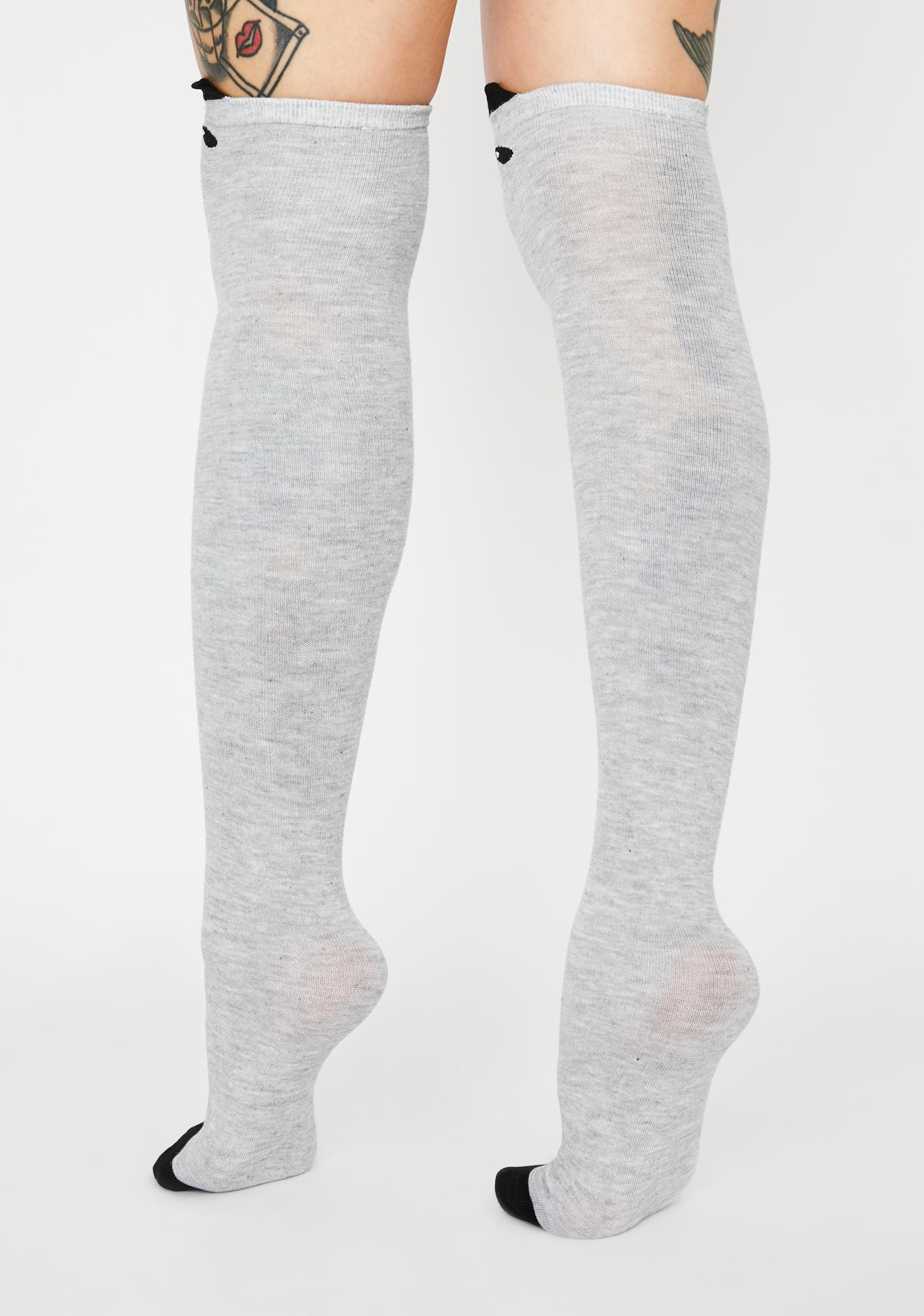 Ash Are U Kitten Me Thigh High Socks