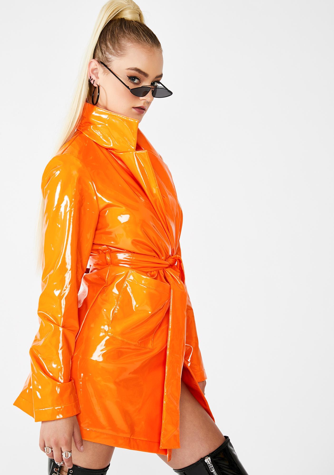 Dolls Kill Juicy Viral Vengeance Trench Coat