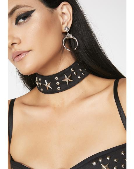 Bad Girl Studded Choker