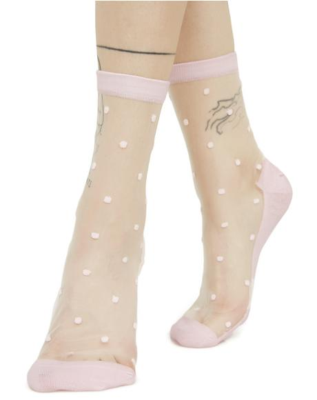 Dear Dottie Sheer Ankle Socks