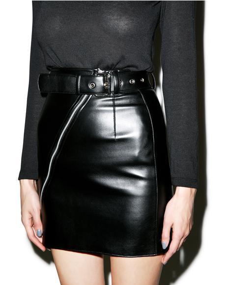Bad Ass Vegan Leather Skirt