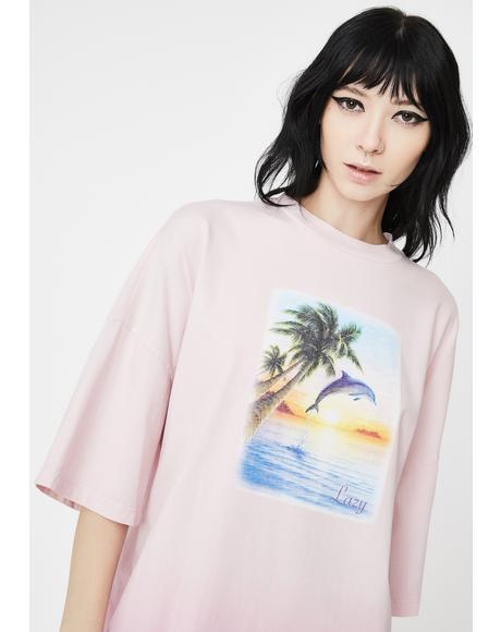 Beach Babe T-Shirt Dress