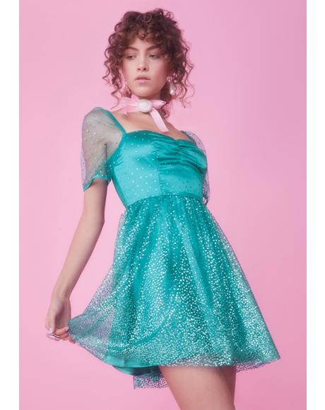 Diamonds Are Forever Babydoll Dress