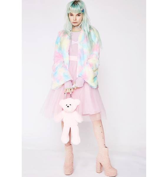 Sugar Thrillz Candy Craving Fluffy Coat