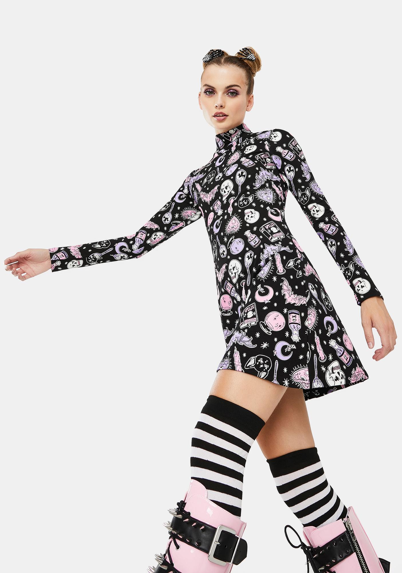 Dolls Kill Twisted Magic Mini Dress