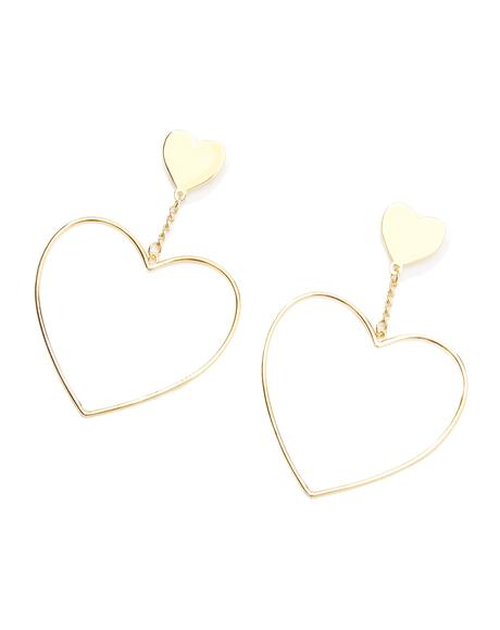 Burnin' Luv Heart Earrings