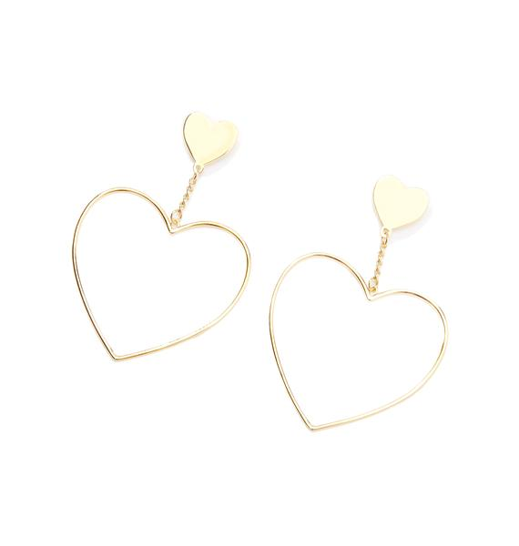 Burnin' Luv Heart Earrings