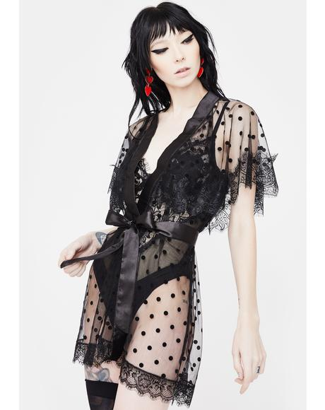 Death Of Romance Lace Robe