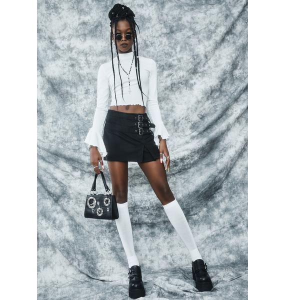 dELiA*s by Dolls Kill Her Bad Self Long Sleeve Crop Top