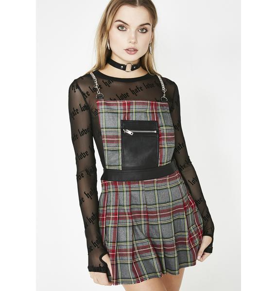 Current Mood Teen Spirit Plaid Dress