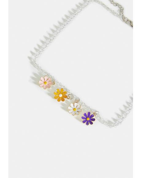 Daisy's Delight Flower Charm Necklace