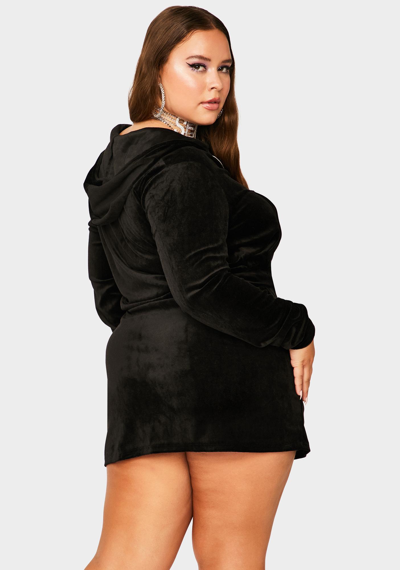 Lil Noir Proper Plush Velour Skirt Set
