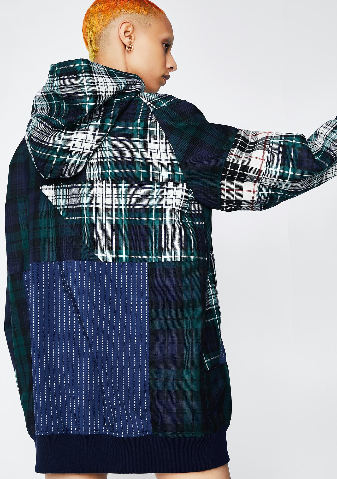 PUMA FENTY PUMA BY Rihanna Plaid Patchwork Pullover Hoodie