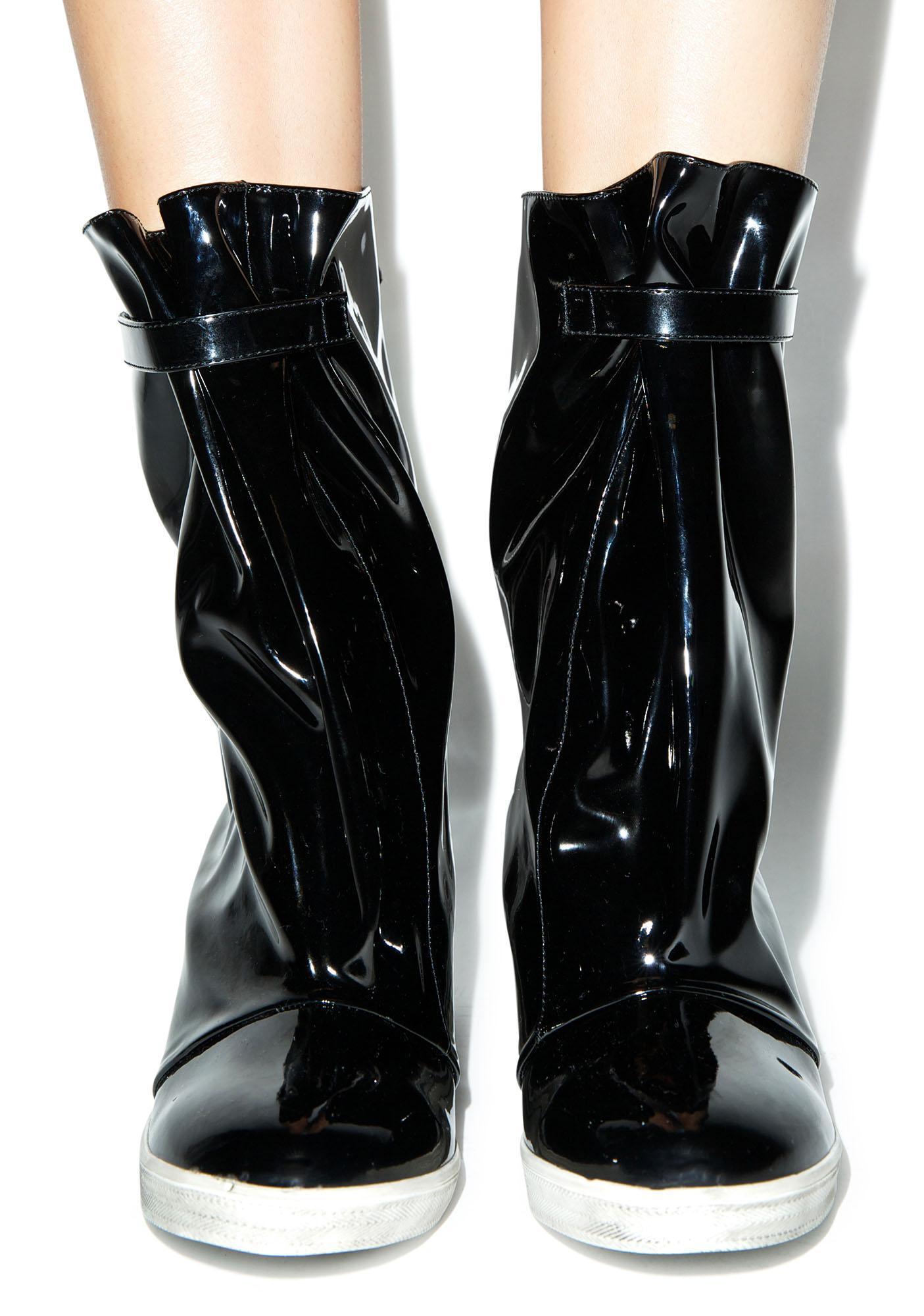 Y.R.U. Rain Wedge Boots