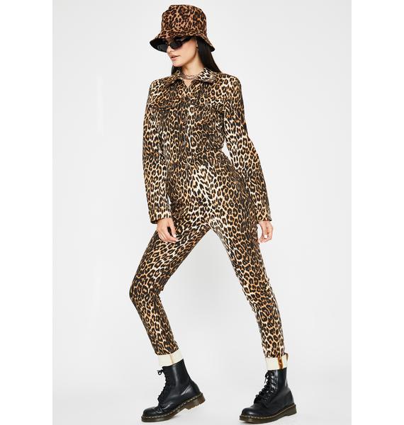 Here Kittycat Denim Jumpsuit