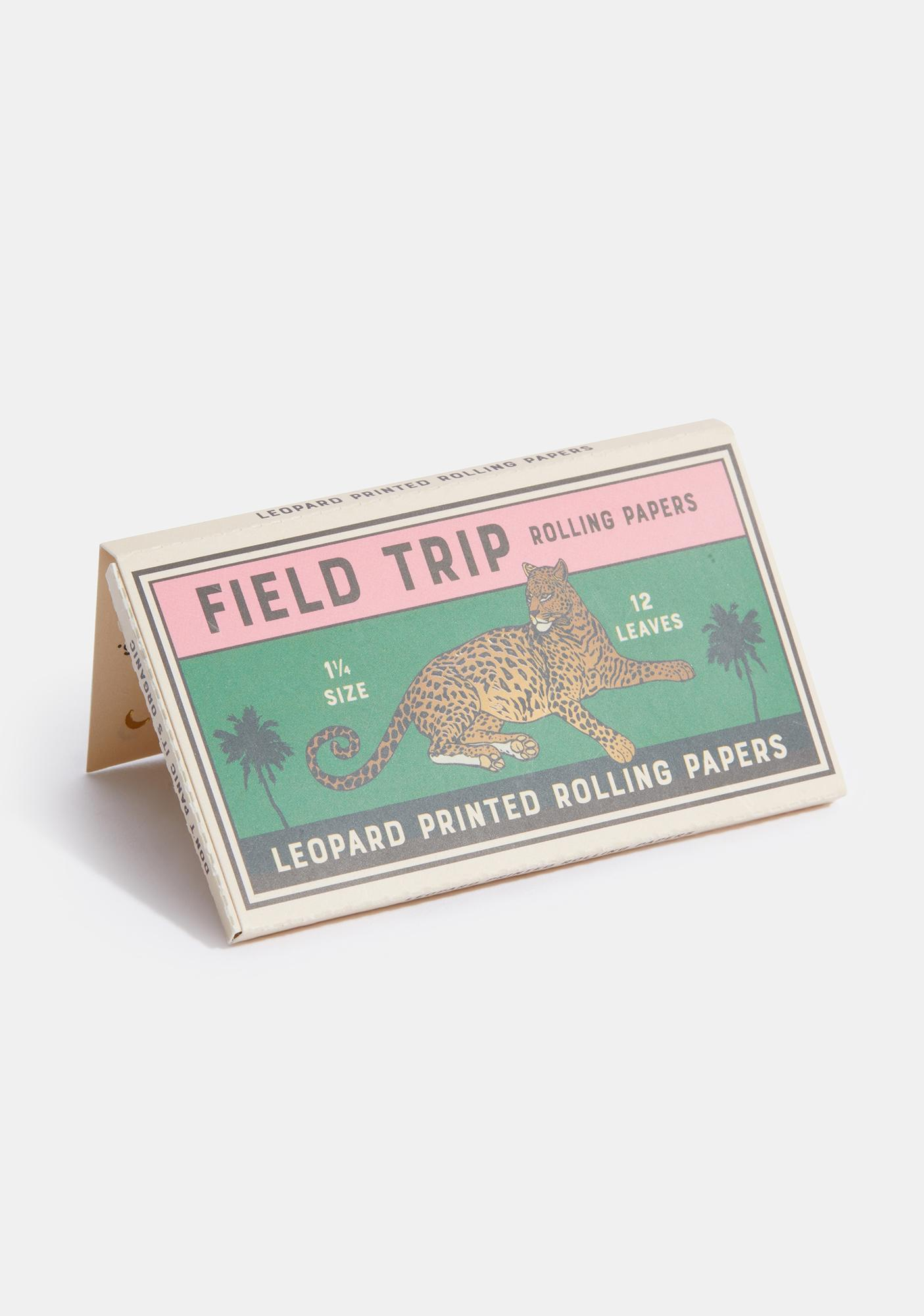 Field Trip Rolling Papers Leopard Printed Rolling Papers