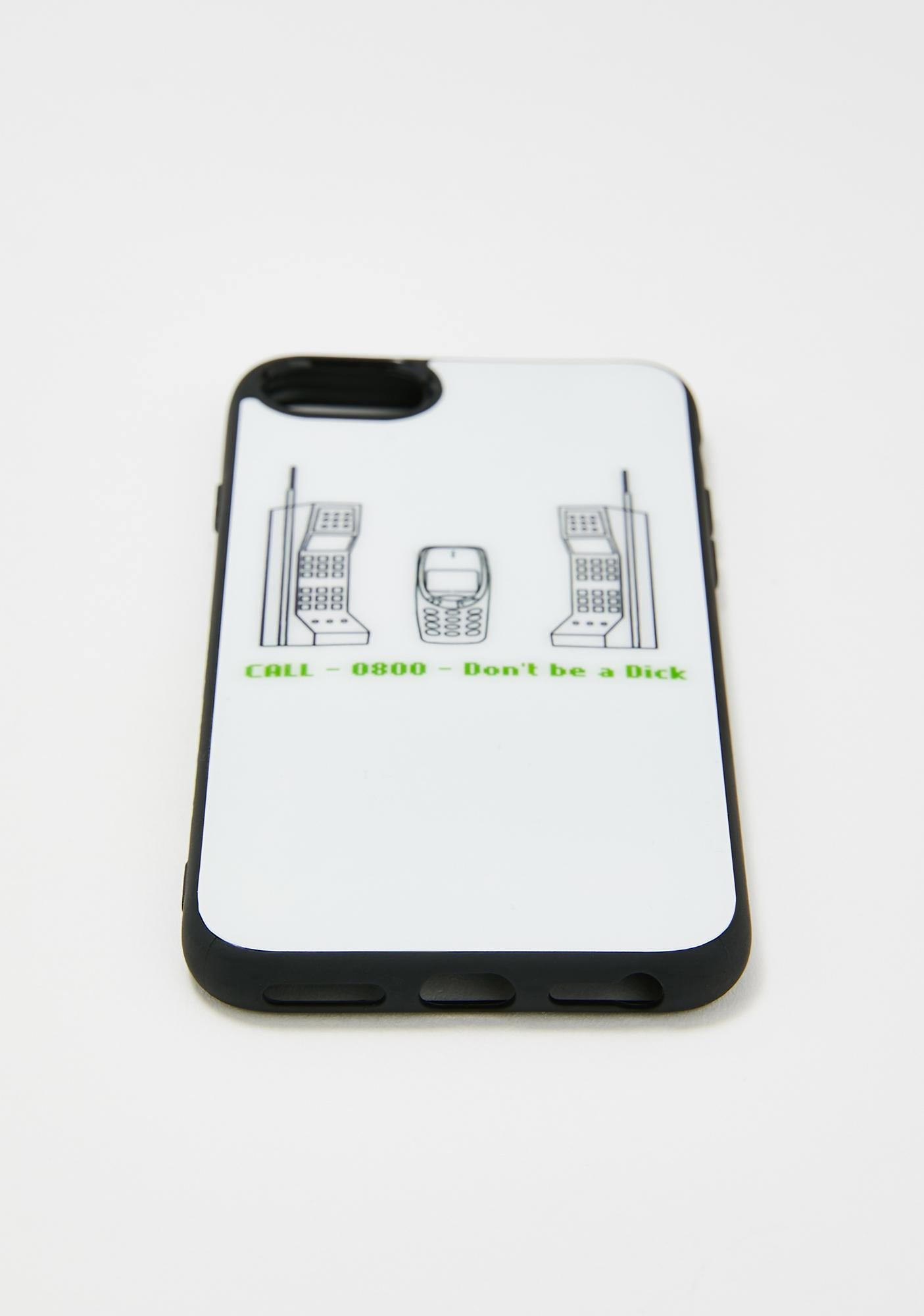 Spill The Tea 1800 Don't Be A Dick iPhone Case