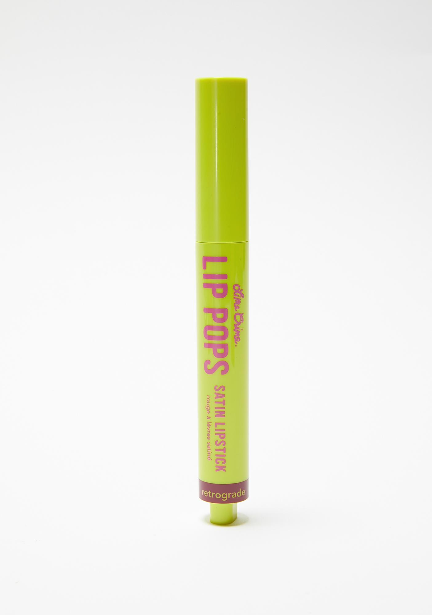 Lime Crime Retrograde Lip Pops Satin Lipstick