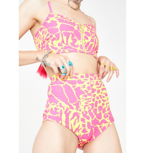 Elsie & Fred Superfly Leopard Hot Pants