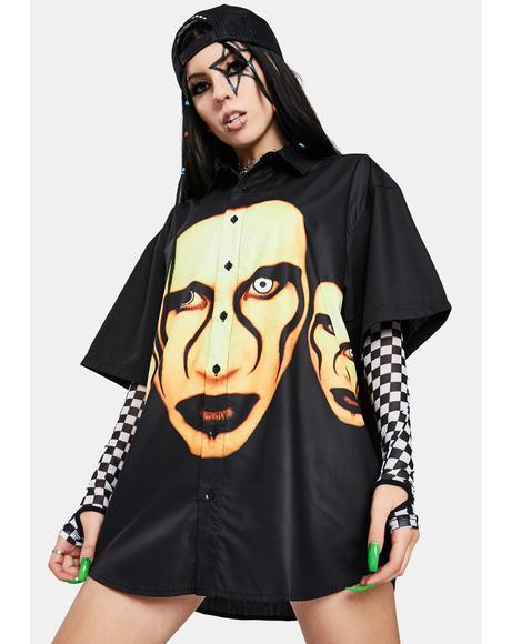 X Marilyn Manson Button Down Shirt