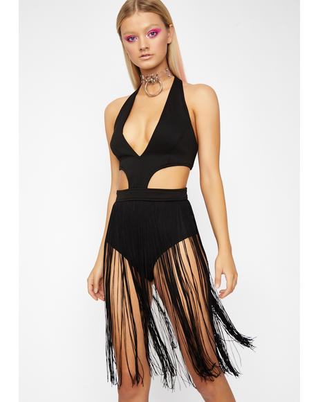 Run Da World Fringe Bodysuit