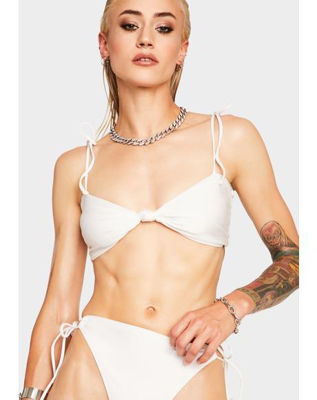 White Hiatus Bikini Top