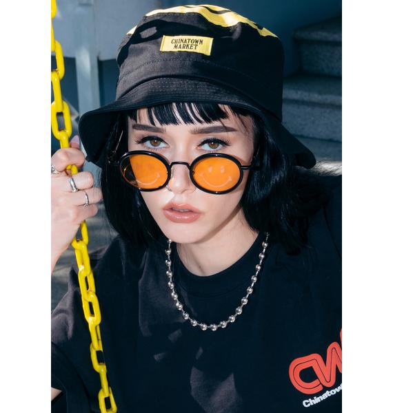 CHINATOWN MARKET Smiley X Akila Sunglasses