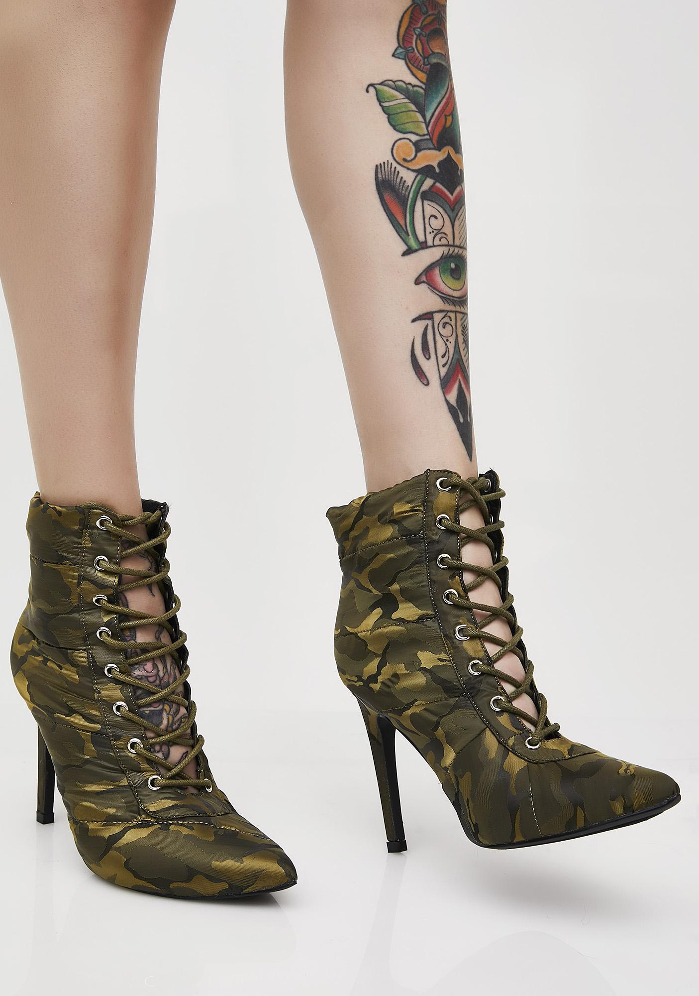 Camo Street Cred Ankle Boots
