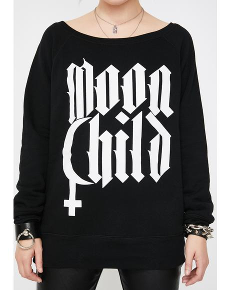 Moon Child Graphic Sweatshirt
