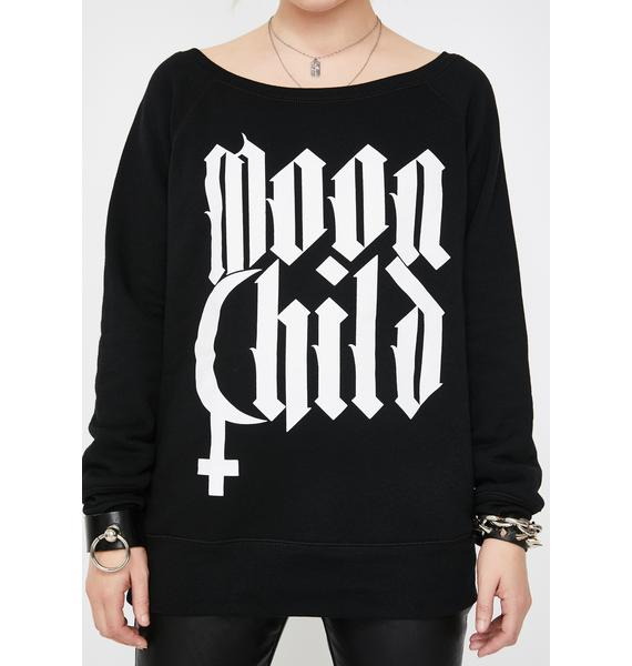 Blackcraft Moon Child Graphic Sweatshirt