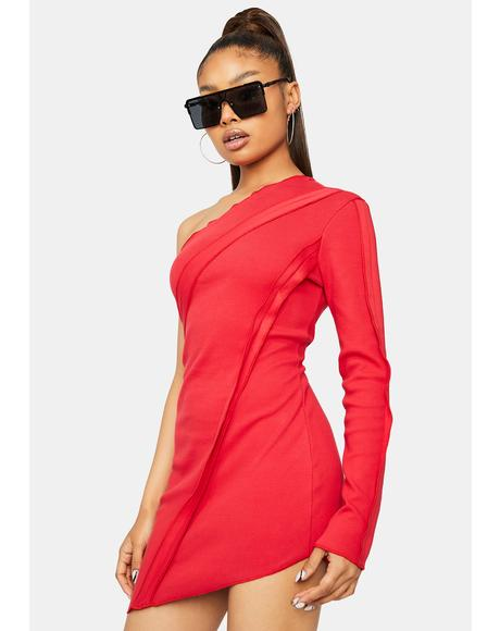 Scarlet New Adventures One Shoulder Mini Dress