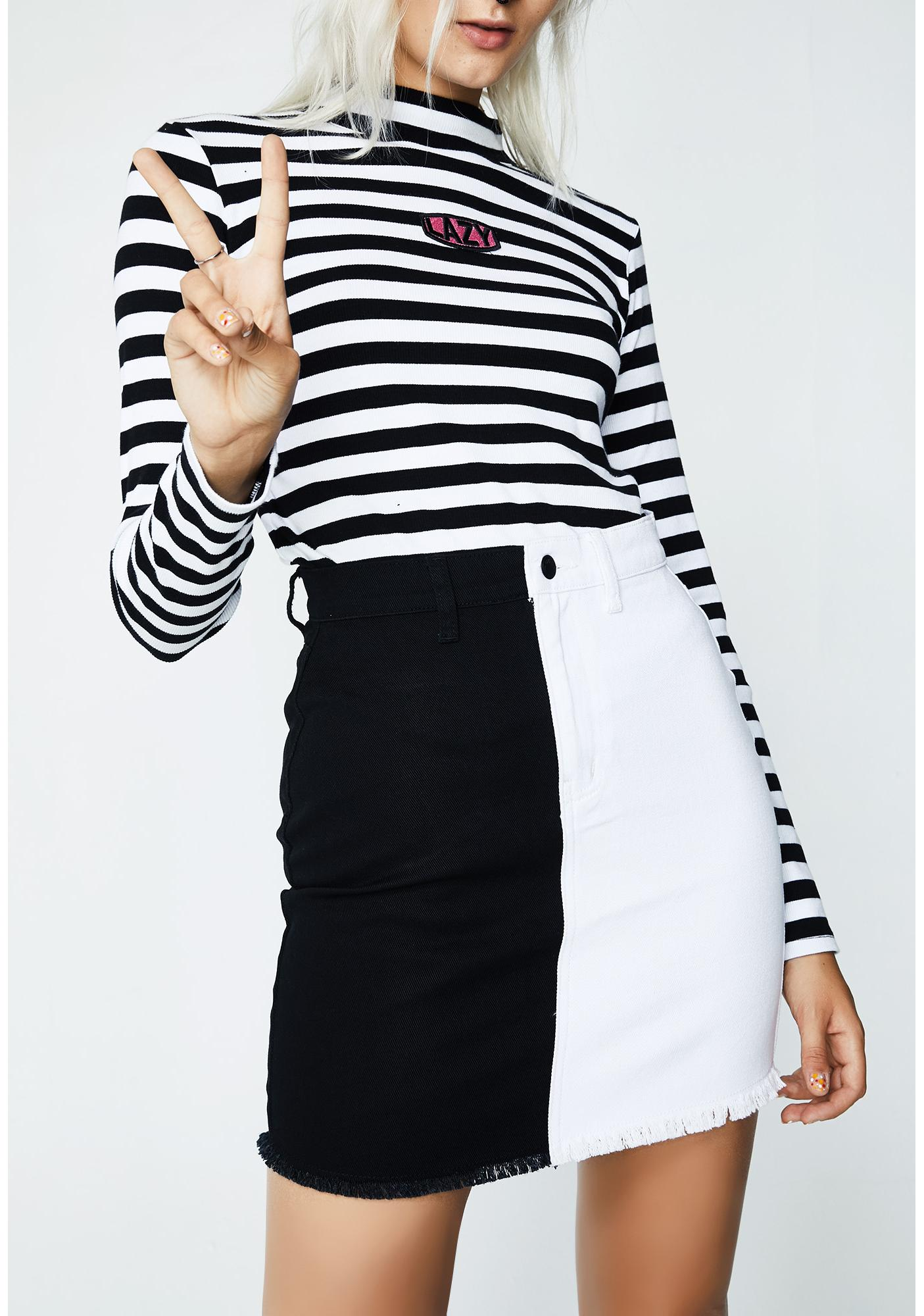 Lazy Oaf Two Faced Mono Skirt
