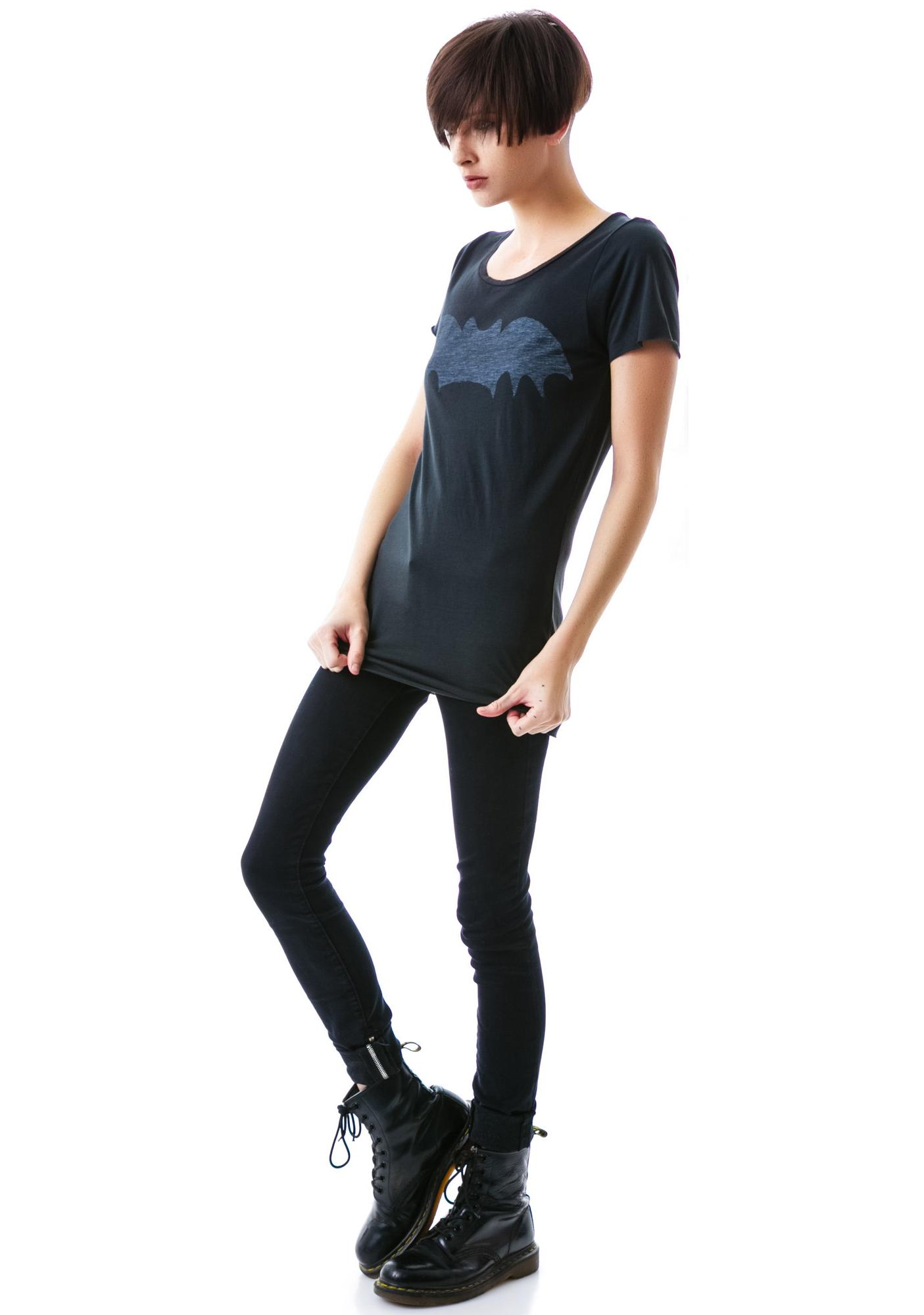 Zoe Karssen Bat Scoop Neck Tee
