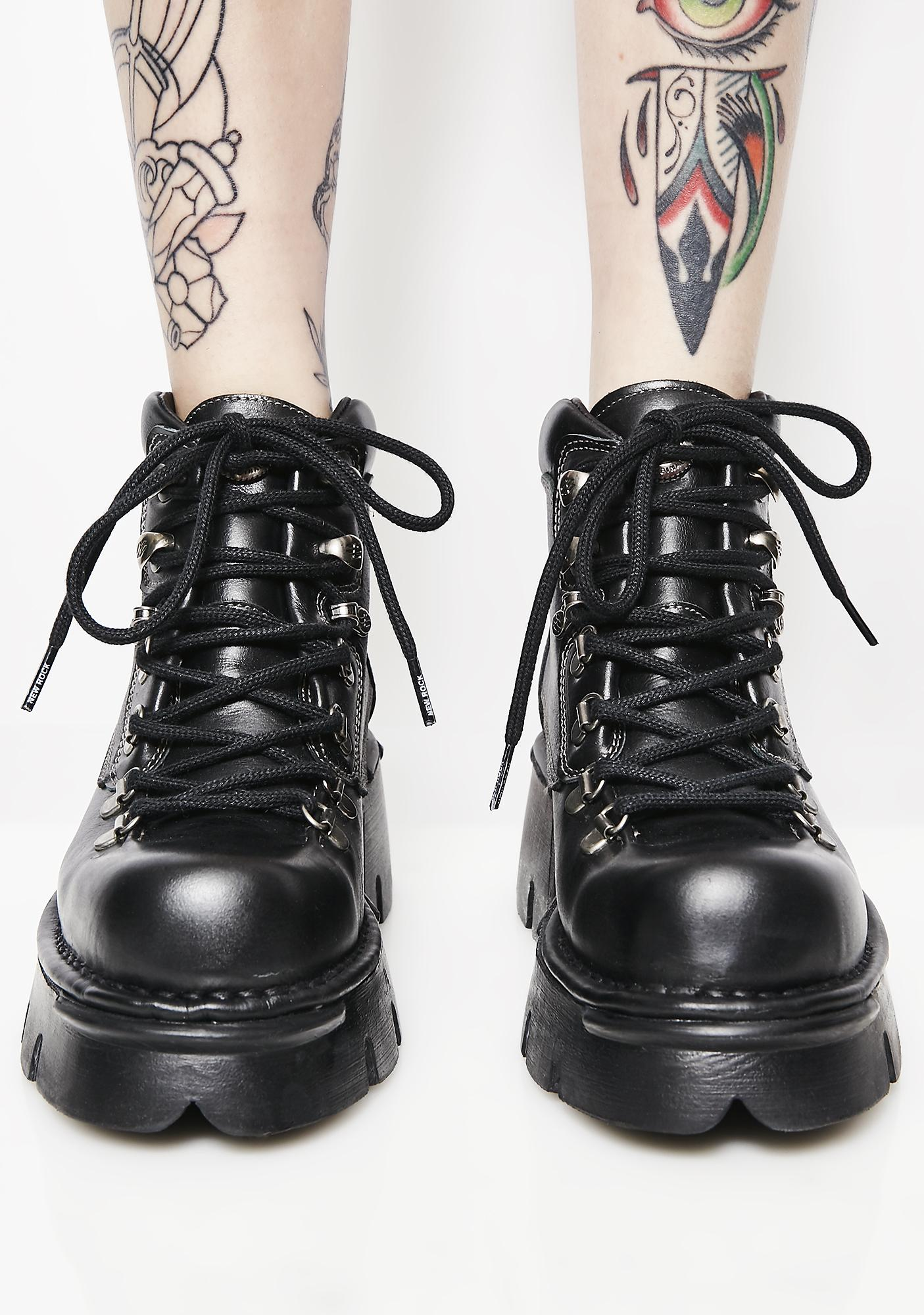 New Rock Leather Platform Boots
