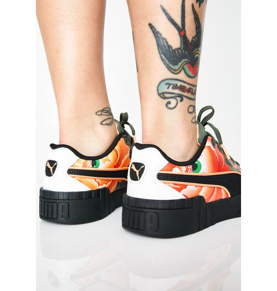 PUMA X Sue Tsai Cali Peonies Camo Sneakers