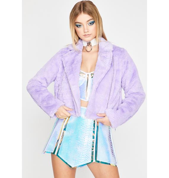 Pixie Stay Posted Faux Fur Jacket