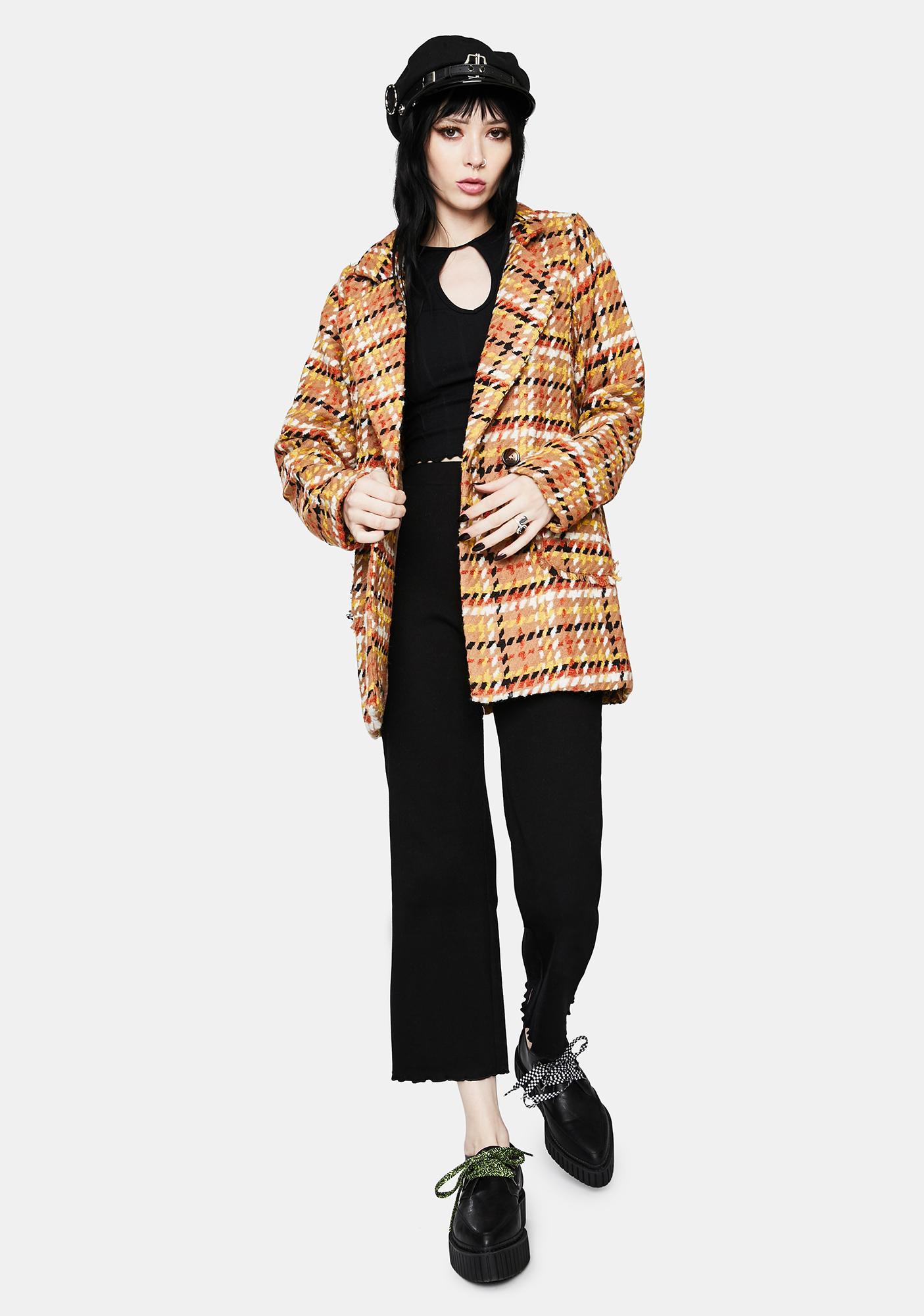 Plaid Boss Tweed Jacket