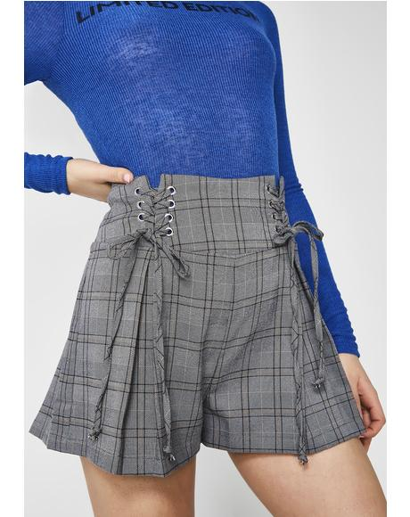 Told You So Plaid Shorts