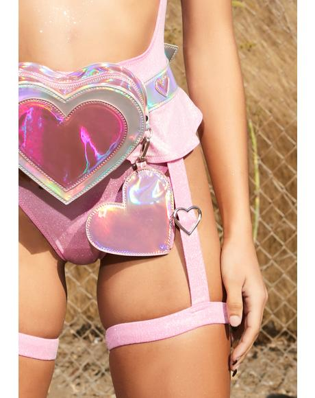 Higher Love Holographic Belt Bag