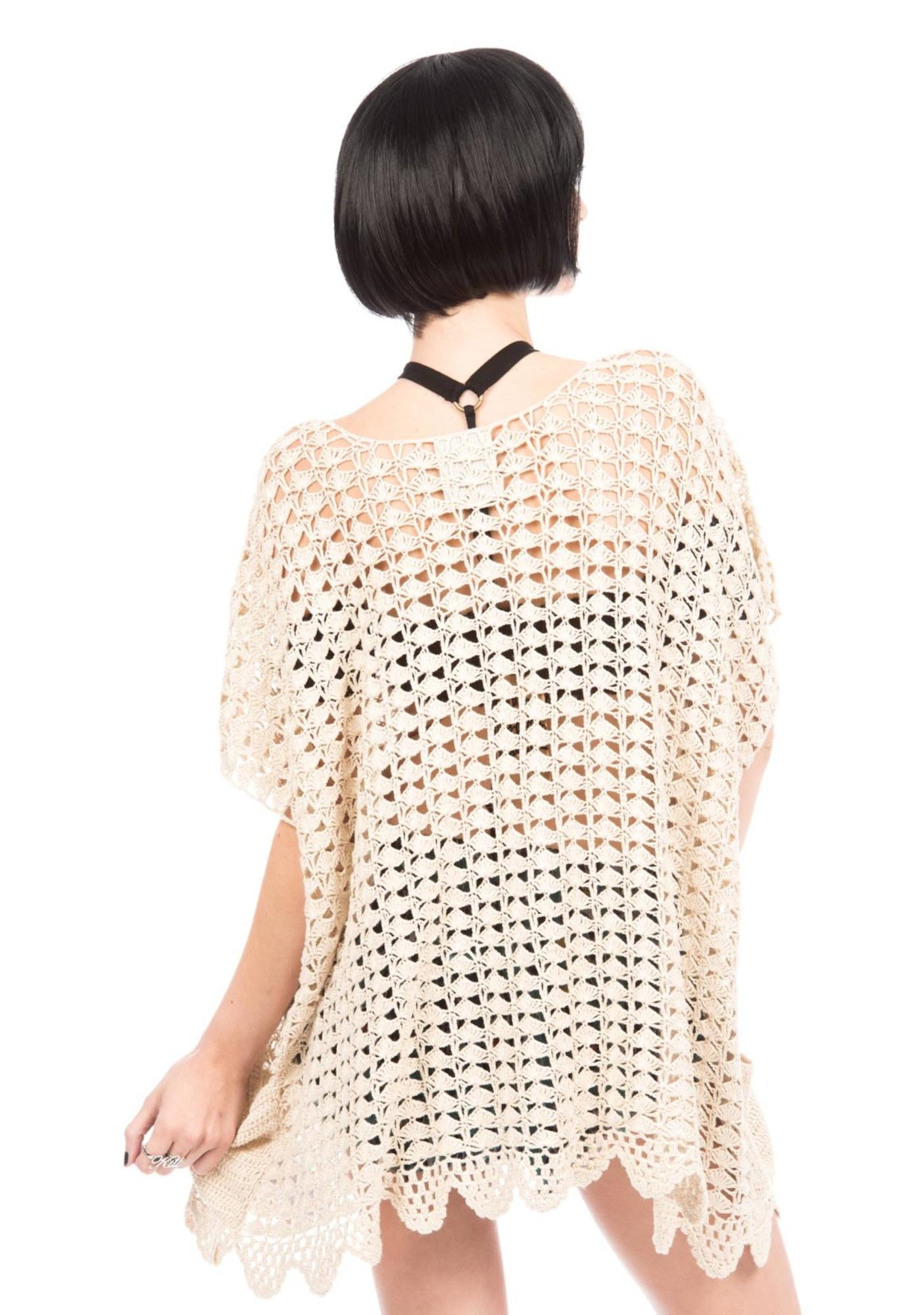 One Teaspoon Canyon Crochet Poncho