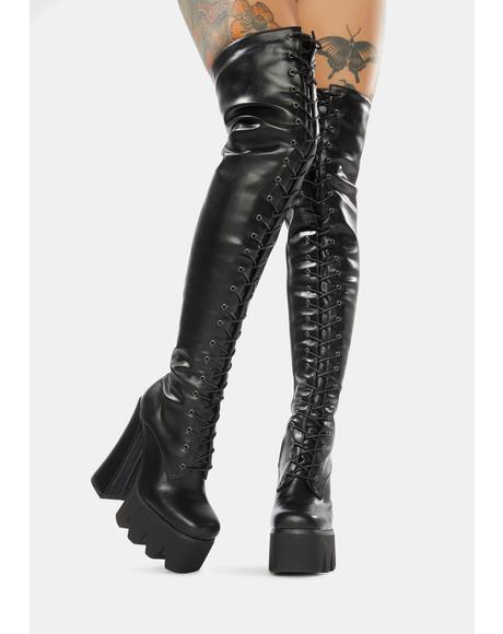 So High Thigh High Platform Boots