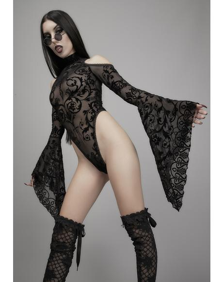 Midnight's Embrace Mesh Bodysuit