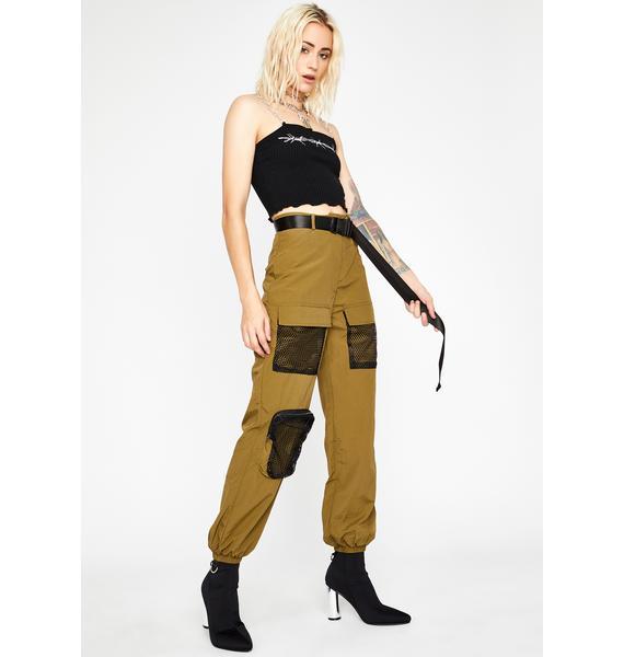 Olive Heavy Heat Cargo Pants