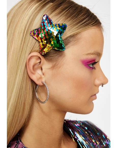 Starry Carnival Hair Clip