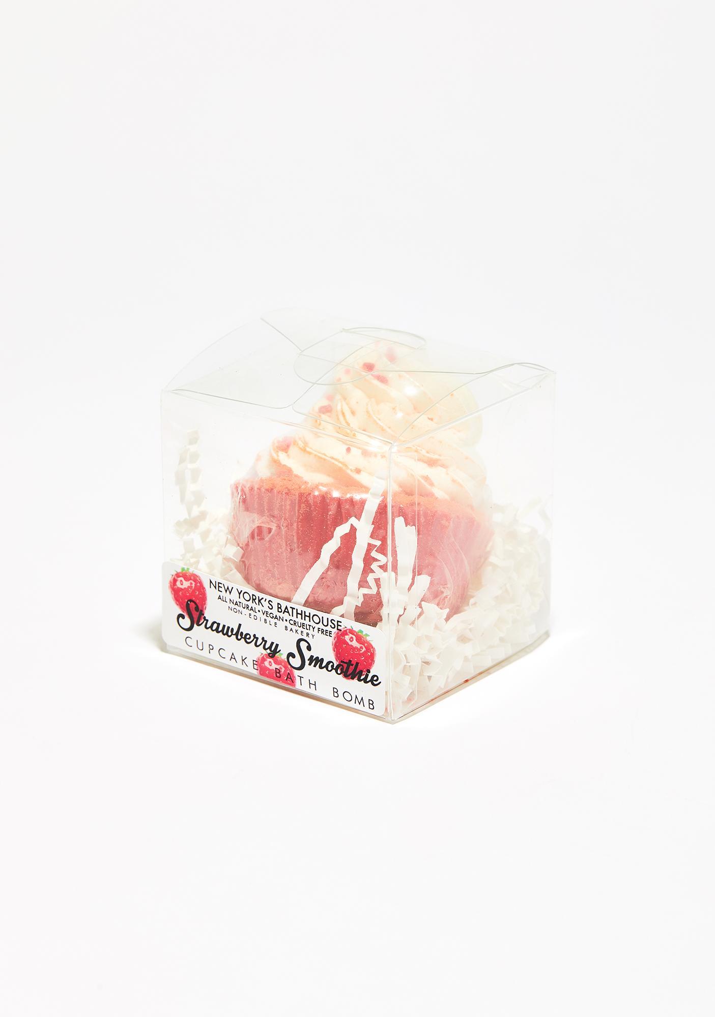 New York's Bathhouse Strawberry Smoothie Cupcake Bath Bomb