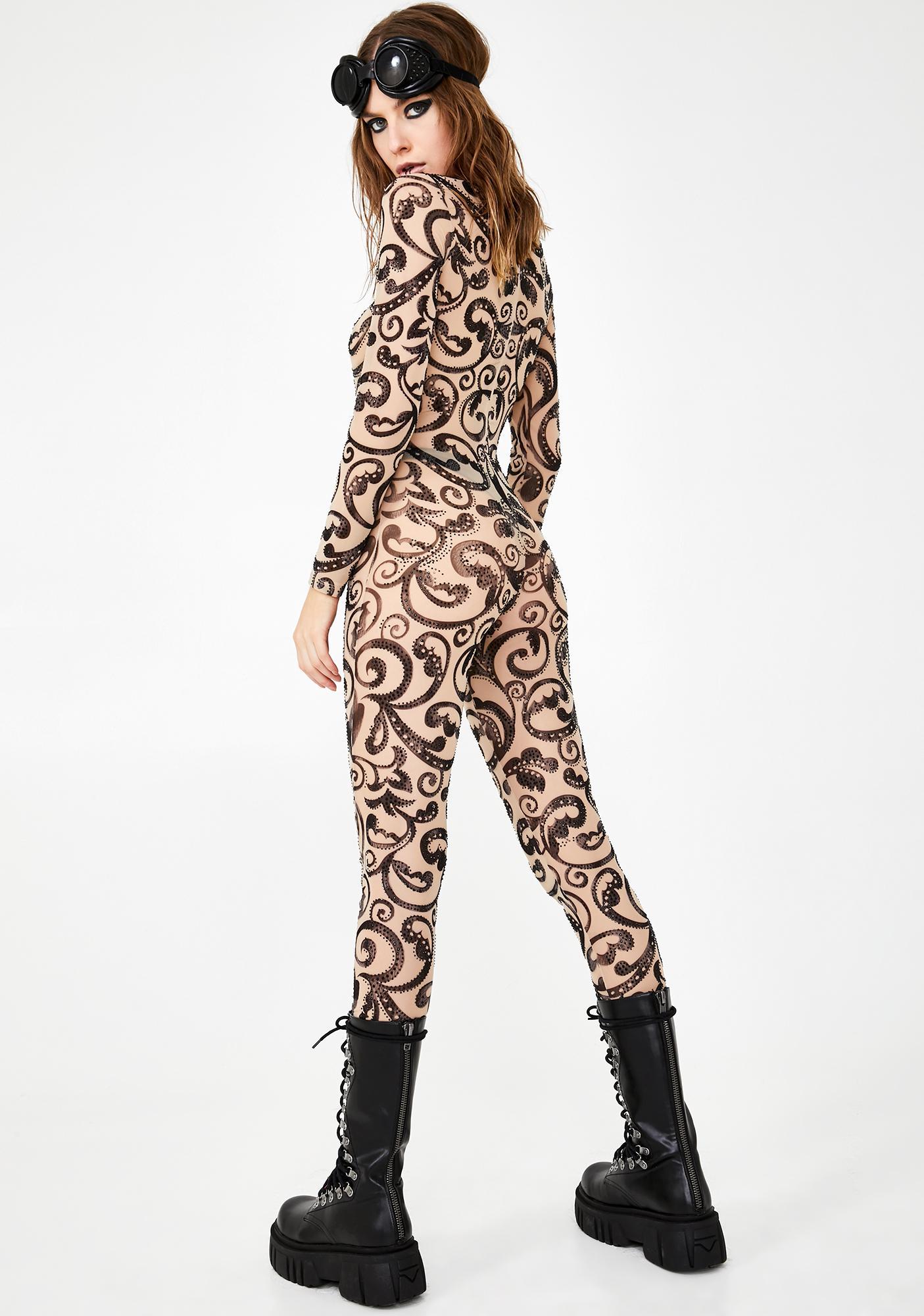 Kiki Riki Wavy Rager Printed Catsuit