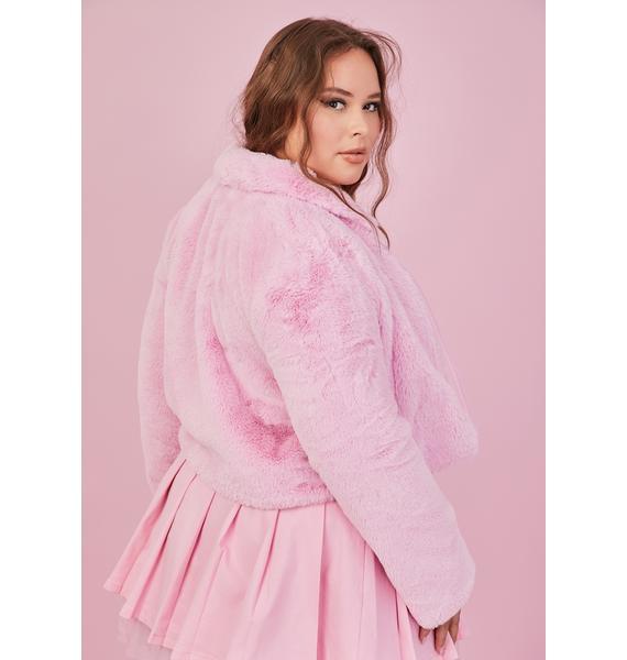 Sugar Thrillz Sweet Always Cupid's Fool Faux Fur Jacket